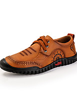 cheap -Men's Shoes PU Spring Fall Comfort Oxfords for Casual Outdoor Brown Yellow