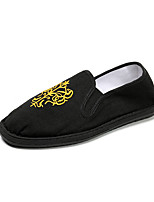 cheap -Men's Shoes Fabric Spring Summer Comfort Driving Shoes Loafers & Slip-Ons Walking Shoes Side-Draped for Casual Outdoor Black