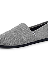 cheap -Men's Shoes Canvas Spring Fall Comfort Loafers & Slip-Ons for Casual Khaki Gray White