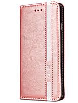 abordables -Coque Pour Apple iPhone X iPhone 8 Porte Carte Portefeuille Avec Support Clapet Magnétique Couleur unie Dur faux cuir pour iPhone X