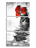 cheap -Rolled Canvas Prints Modern, Three Panels Canvas Square Print Wall Decor Home Decoration