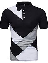cheap -Men's Daily Street chic Spring Summer Polo Shirt Collar Short Sleeves Polyester