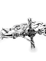cheap -Men's Link Bracelet , Hip-Hop Cool Stainless Steel Cross Jewelry Other Daily Costume Jewelry