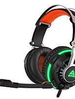 cheap -supsoo g800 over ear headband wired headphones plastic gaming earphone noise-isolating with microphone with volume control luminous