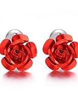 cheap -Geometric Purple Red Blue Cufflinks Stainless Steel Fashion Gift Valentine Men's Costume Jewelry