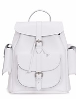 cheap -Women's Bags PU Backpack Buttons for Casual All Seasons Blue White Blushing Pink Gray