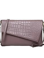 cheap -Women's Bags Cowhide Shoulder Bag Zipper for Shopping Casual All Seasons Blushing Pink