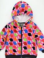 Недорогие -Девочки Куртка / пальто Повседневные Искусственный мех Хлопок С животными принтами Контрастных цветов Весна Осень Длинный рукав