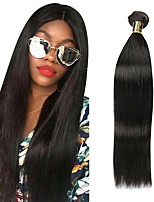 cheap -Peruvian Hair Straight Human Hair Weaves Natural Color Hair Weaves Women's Daily