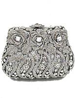 preiswerte -Damen Taschen Metall Abendtasche Kristall Verzierung für Hochzeit Veranstaltung / Fest Ganzjährig Silber
