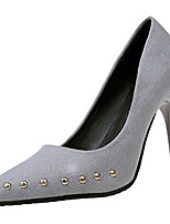 cheap -Women's Shoes Cashmere Spring Comfort Heels Stiletto Heel Pointed Toe Rivet for Casual Black Gray Red