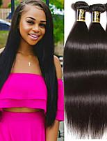 Недорогие -Бразильские волосы Прямой силуэт Ткет человеческих волос 3 предмета 0.15