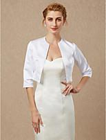 cheap -Half Sleeves Satin Wedding Party / Evening Women's Wrap Coats / Jackets