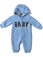 cheap -Baby Boys' Daily Sports Solid One-Pieces, Cotton Winter Fall Active Light Blue