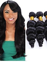 cheap -Brazilian Hair Loose Wave Human Hair Weaves 1pc Natural Color Hair Weaves