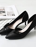 preiswerte -Damen Schuhe Künstliche Mikrofaser Polyurethan Frühling Herbst Komfort High Heels Stöckelabsatz Spitze Zehe Schleife für Normal Party &