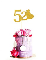 cheap -Cake Topper Birthday Family Wedding Glamorous Glitter Paper Wedding Birthday with Sweetheart 1 OPP