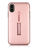 abordables -Coque Pour Apple iPhone X iPhone 8 Avec Support Coque Couleur unie Dur PC pour iPhone X iPhone 8 Plus iPhone 8 iPhone 7 Plus iPhone 7