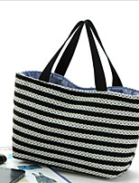 cheap -Women's Bags Canvas Tote Pattern / Print for Casual Spring Fall Black/White