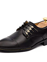 cheap -Men's Shoes Cowhide Spring Fall Comfort Oxfords for Casual White Black Yellow