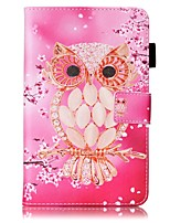 cheap -Case For Samsung Galaxy Tab 4 7.0 Card Holder Wallet with Stand Pattern Auto Sleep/Wake Up Full Body Cases Owl Hard PU Leather for Tab 4