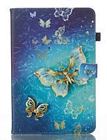 cheap -Case For Samsung Galaxy Tab A 10.1 (2016) Wallet with Stand Flip Pattern Auto Sleep/Wake Up Full Body Cases Butterfly Hard PU Leather for