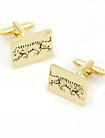 cheap -Cuboid Golden Cufflinks Animals Fashion Gift Work Men's Costume Jewelry