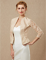 cheap -3/4 Length Sleeves Lace Wedding Party / Evening Women's Wrap Coats / Jackets