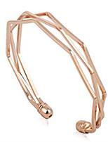 abordables -Femme Manchettes Bracelets Adorable Mode Alliage Forme Géométrique Bijoux Quotidien Sortie