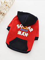cheap -Dogs Hoodie Dog Clothes Japan and Korea Style Warm Ups Quotes & Sayings Red Black Costume For Pets
