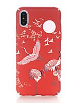 baratos -Capinha Para Apple iPhone X / iPhone 8 Áspero / Estampada Capa traseira Animal Rígida PC para iPhone X / iPhone 8 Plus / iPhone 8
