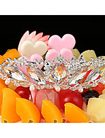 cheap -Cake Topper Romance Wedding Boutique Princess Alloy Wedding Party with Rhinestone 1 Gift Bag