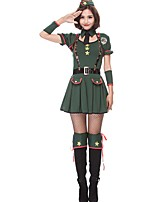 cheap -Witch Police Halloween Carnival Oktoberfest Birthday Festival / Holiday Halloween Costumes Green Color Block Animal Vampires