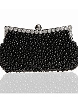 cheap -Women's Bags PC Evening Bag Beading for Wedding Event/Party Spring All Seasons White Black Blushing Pink Beige Yellow