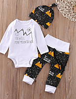 cheap -Baby Unisex Sports School Print Clothing Set, Cotton Spring Fall Simple Cute White