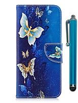 Недорогие -Кейс для Назначение Apple iPhone X iPhone 8 Plus Бумажник для карт Кошелек со стендом Флип Магнитный Чехол Бабочка Твердый ТПУ для iPhone
