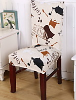 cheap -Chair Cover Polka Dot Pigment Print Polyester Slipcovers