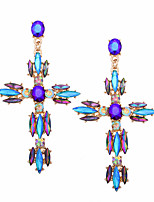 cheap -Women's Drop Earrings Rhinestone Statement Jewelry Fashion Alloy Cross Jewelry Ceremony Evening Party Costume Jewelry