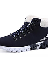 cheap -Men's Shoes Suede Winter Snow Boots Boots for Casual Black Dark Blue Red