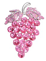 cheap -Women's Brooches Rhinestone Sweet Korean Gold Plated Grape Light Pink Jewelry For Gift Date