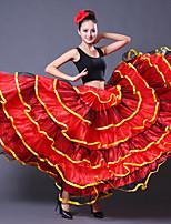 cheap -Ballroom Dance Bottoms Women's Training Polyester Wave-like Gore Dropped Skirts