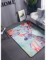 cheap -Creative Modern Area Rugs Bonded Flannelette, Superior Quality Flat Shape Rectangular Floral Print Rug