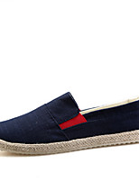cheap -Men's Shoes Fabric Spring Fall Comfort Loafers & Slip-Ons for Casual Black Blue
