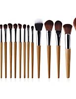 preiswerte -15pcs Permanent Make-up Kit Zubehör Künstliches Haar vollständige Bedeckung Buchenholz Modisch