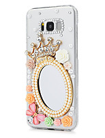 cheap -Case For Samsung Galaxy S8 Plus S8 Rhinestone Back Cover Butterfly Flower Hard PC for S8 Plus S8 S7 edge S7