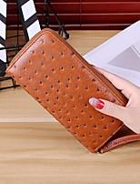 cheap -Women's Bags PVC Clutch Zipper for Casual Spring Fall Blue Black Red Purple Brown