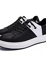 cheap -Men's Shoes Synthetic Microfiber PU Spring Fall Comfort Sneakers for Casual White Black Black/White