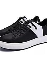 Недорогие -Муж. обувь Искусственное волокно Весна Осень Удобная обувь Кеды для Повседневные Белый Черный Черно-белый