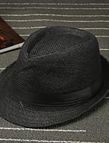 Недорогие -На каждый день Шляпа от солнца, Лето Хлопок Коричневый Белый Черный Светло-коричневый