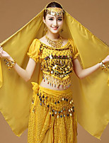 baratos -Dança do Ventre Comum Mulheres Treino Fibra Sintética Lantejoula Véu